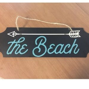 The Beach Home Decor Sign NEW